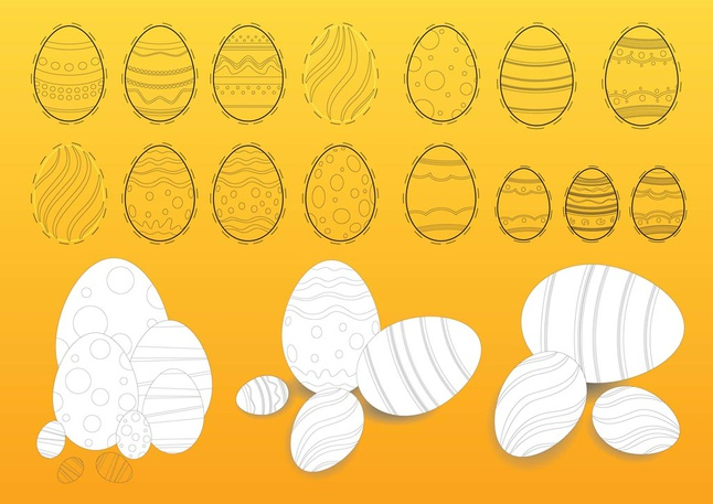 Easter Eggs Illustrations vector free