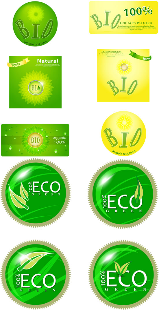 Ecological energy-saving labels