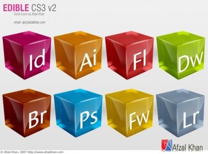 Edible CS3 v2 icons pack