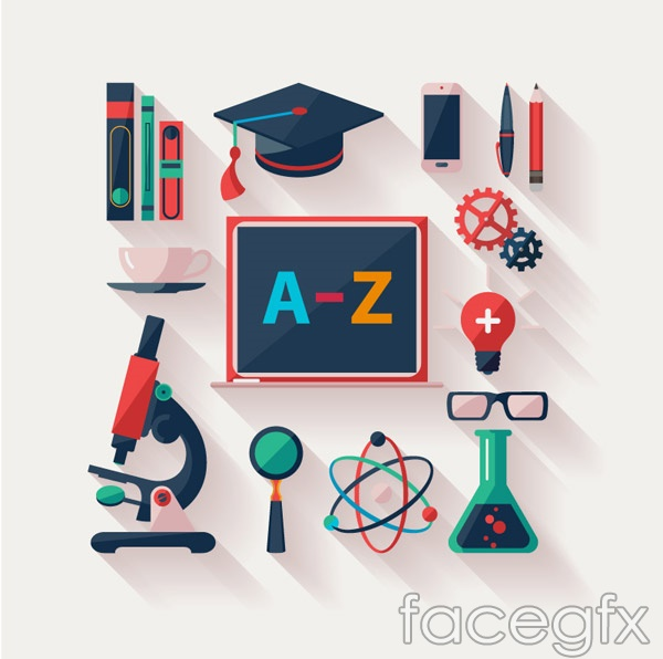 Education element icon vector