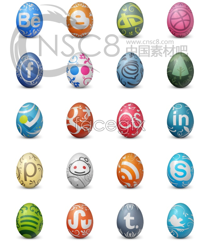 Egg design desktop icons