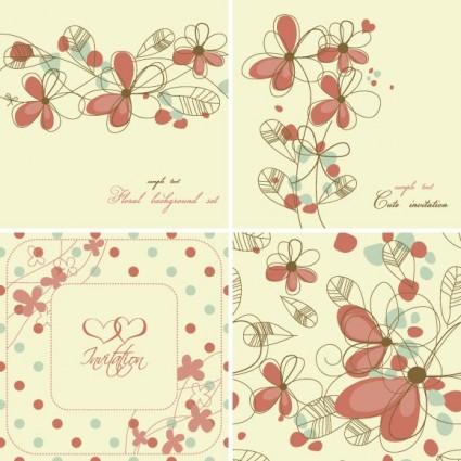 elegant floral background pattern 04 vector