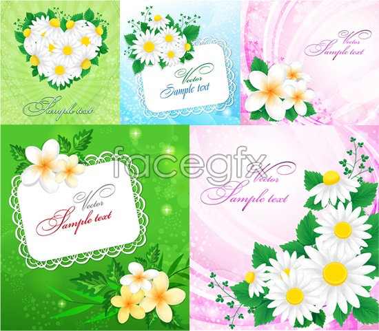 Elegant fresh green leaf flower vector