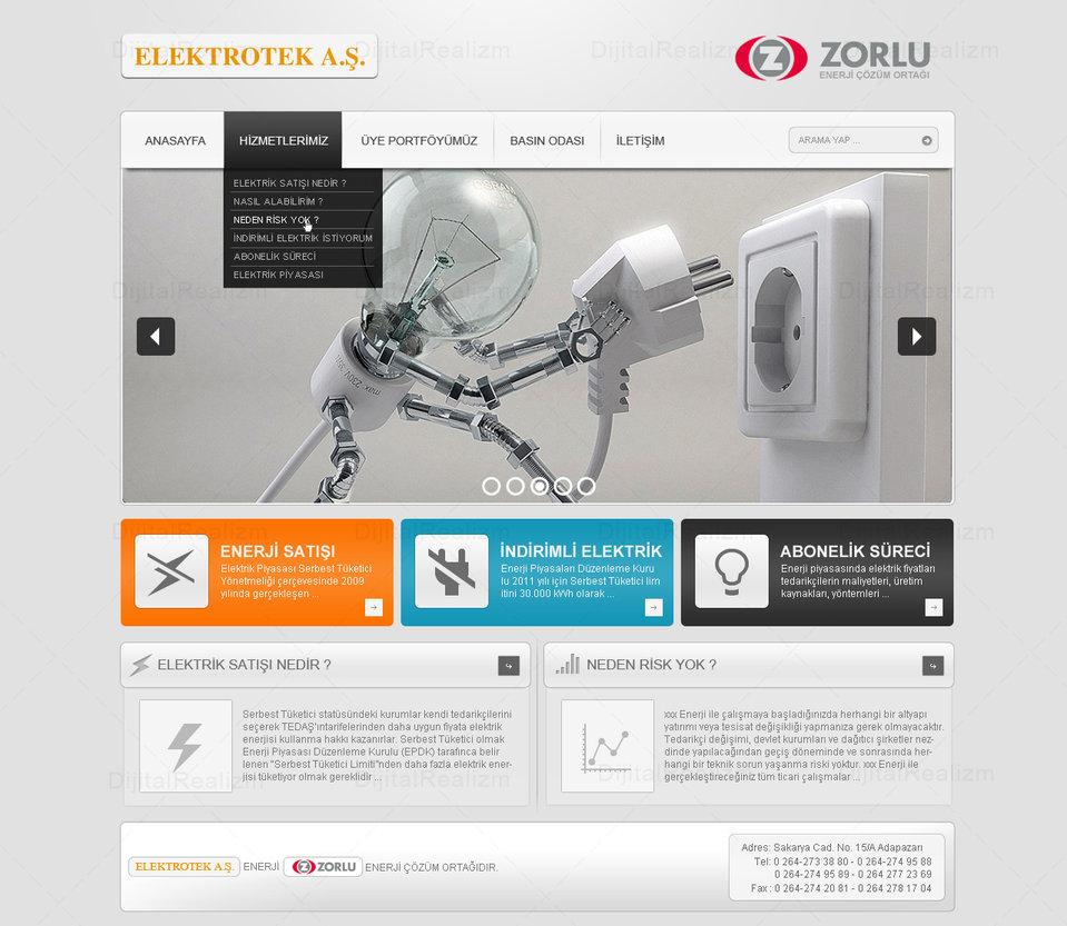 Elektrotek – Web Sitesi