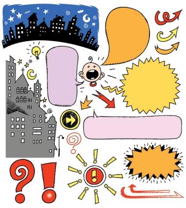 elements of vector cute cartoon