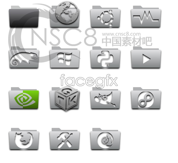 Embossing folders desktop icons