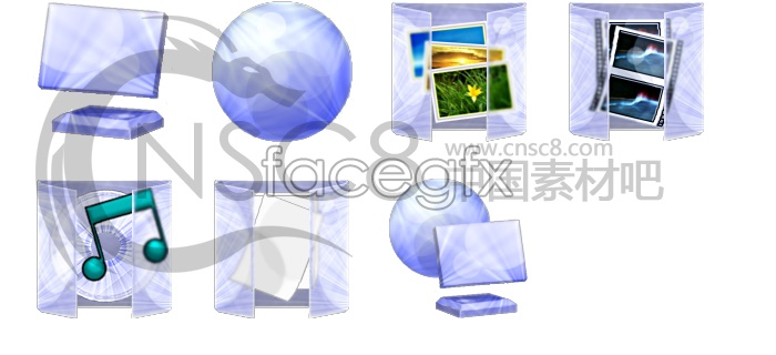 Emerald crystal series icons