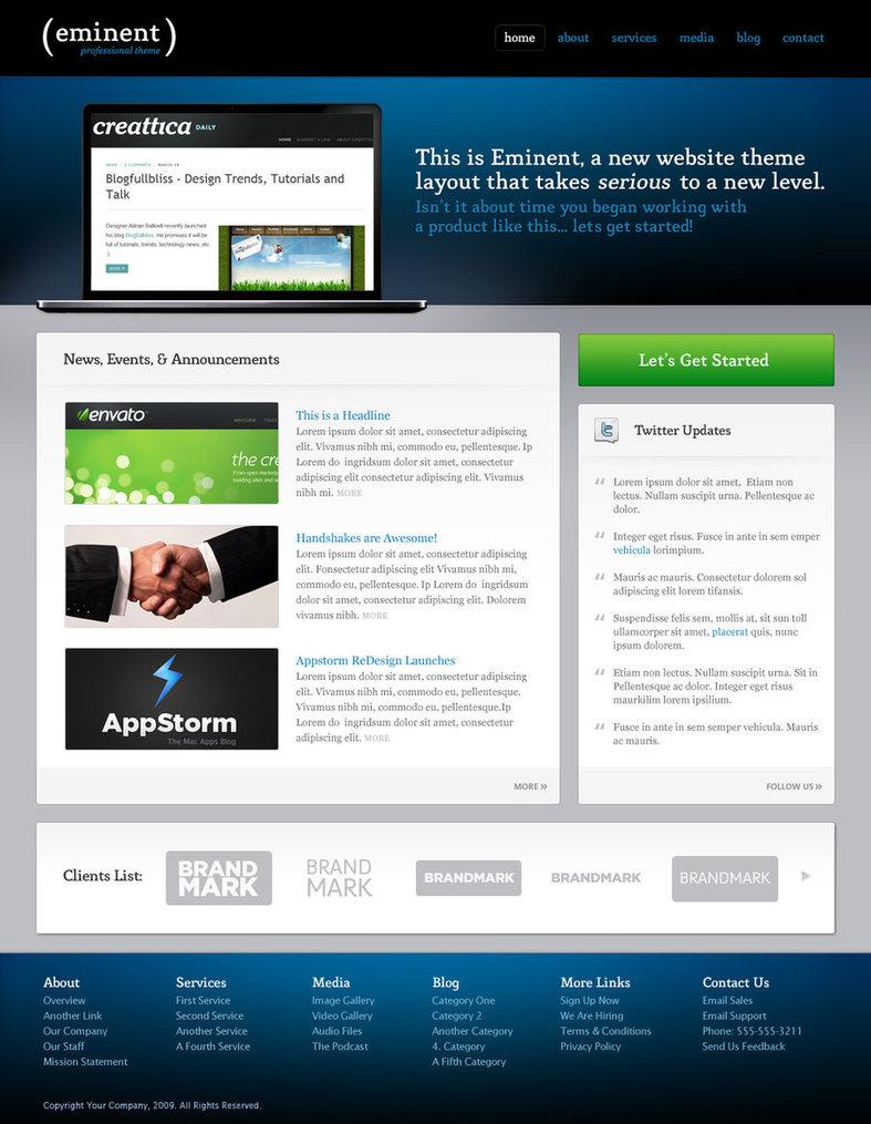 Eminent Template – HTML, CSS