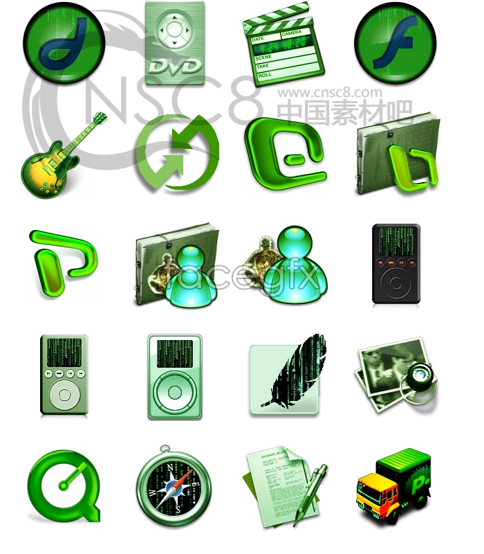 Environmental computer desktop icons