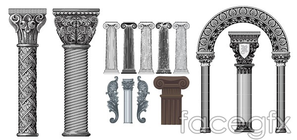 European classical column vector of pattern