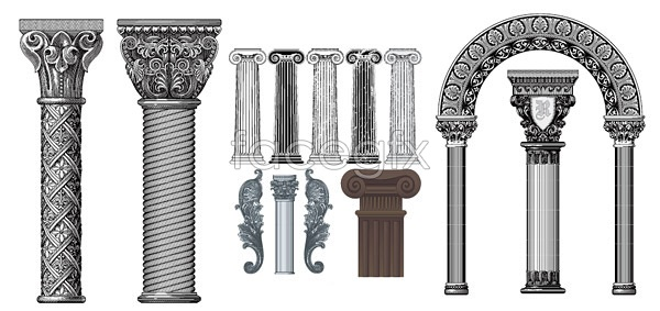 European classical pillars vector over millions vectors stock european classical pillars vector toneelgroepblik Choice Image