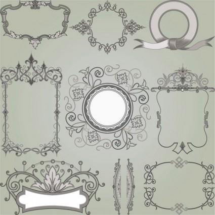 european gorgeous classic decorative pattern vector 5