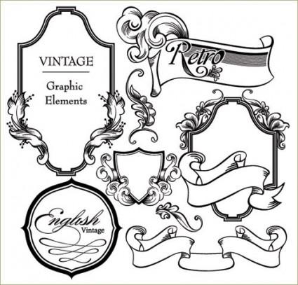 european gorgeous classic lace pattern vector 3
