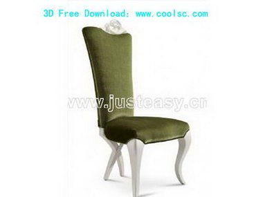 European green chair 3D model (including materials)