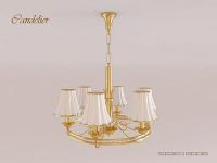 European modern chandelier 3D model