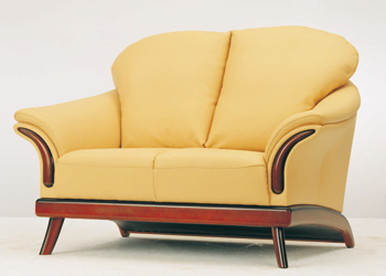 European-style cushion double seats sofa 3D Model