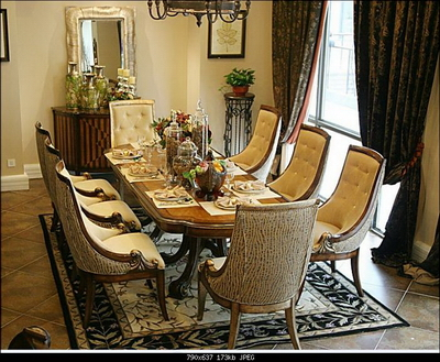 European Style Dining Table And Chair Combination Of A Set Of 3D Models Great Ideas
