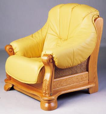 European-style wooden base leather seat sofa 3D Model