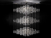 European ultra-modern crystal chandelier 3d model – Over