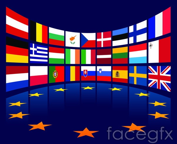 european union flag vector tools – over millions vectors, stock, Modern powerpoint