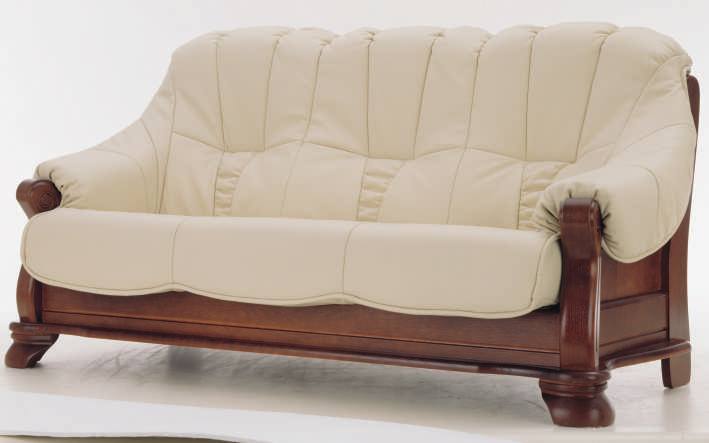 European white people wood bottom leather sofa 3d models – Over ...