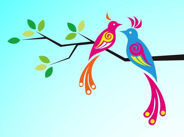 Exotic birds vector free – Over millions vectors, stock