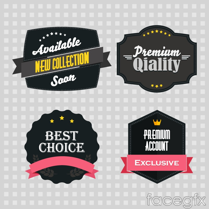 Exquisite black sale tag vector