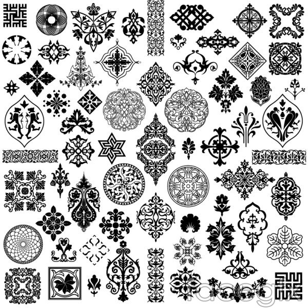 Exquisite classical patterns vector