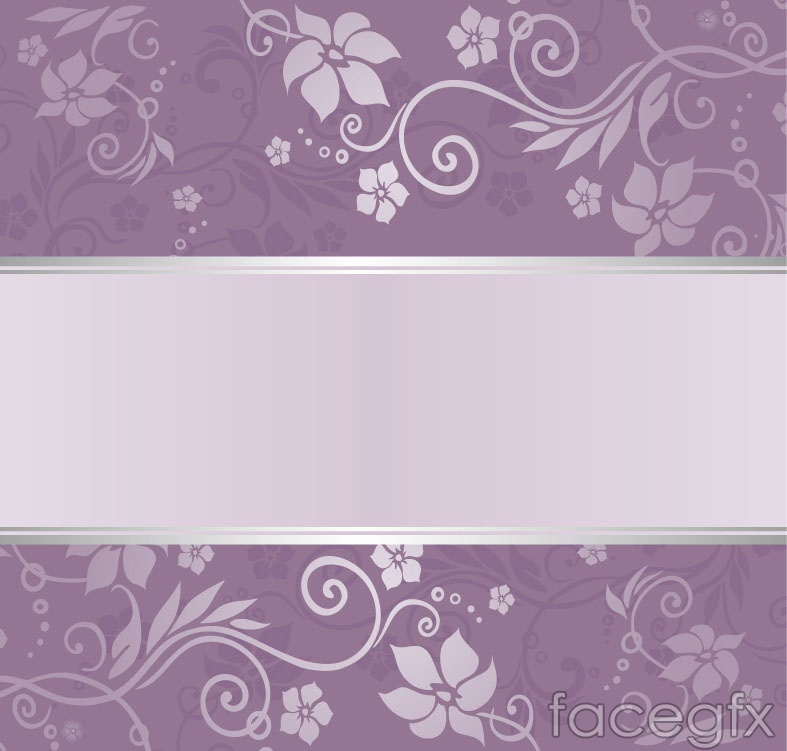 Exquisite purple patterned background vector