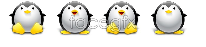 Exquisite QQ Penguin icons