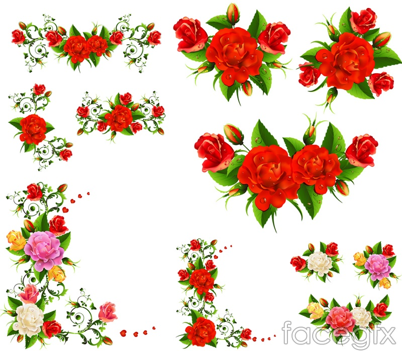 Exquisite rose border vector – Over millions vectors ...