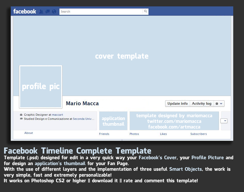 facebook powerpoint template - gse.bookbinder.co, Modern powerpoint