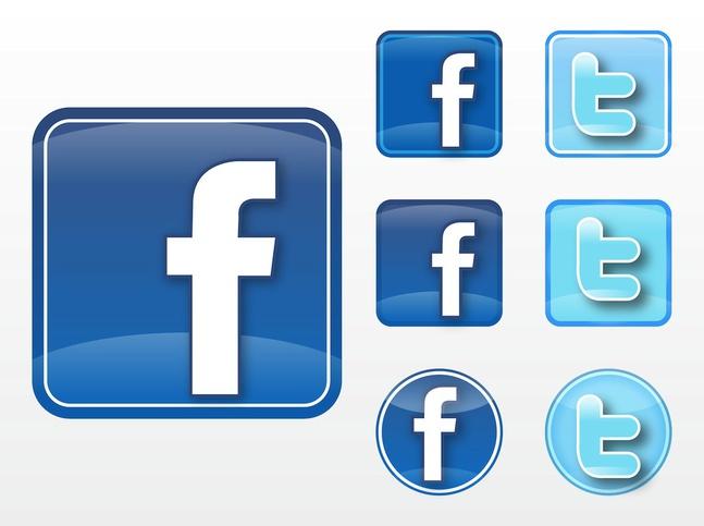facebook twitter vectors free – over millions vectors, stock, Modern powerpoint