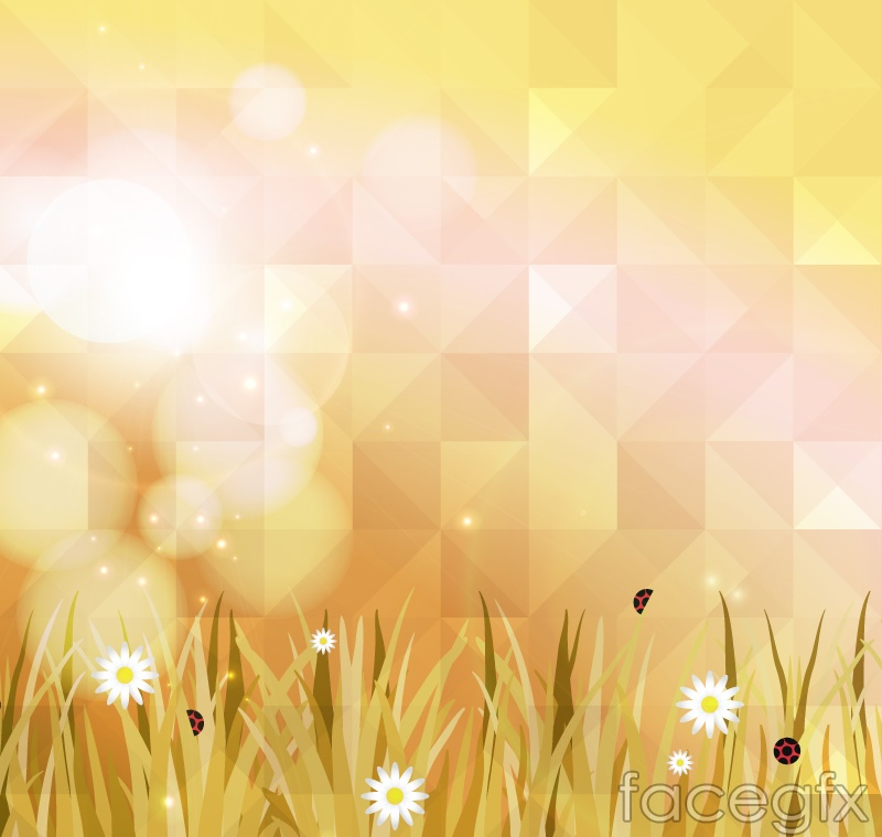 Fantastic geometrical flower background vector