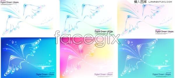 Fantasy wing background vector