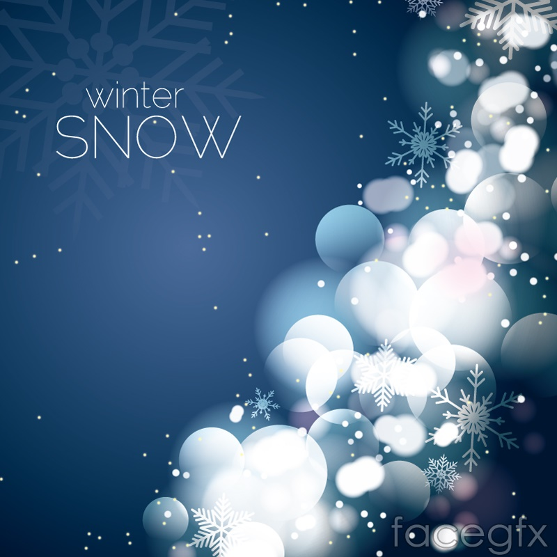 Fantasy Winter Snowflake Background Vector Over Millions Vectors