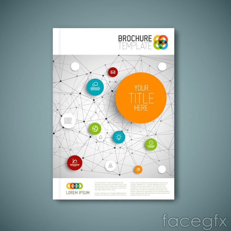 School Book Cover Page Design : Fashion business brochure covers vector over millions