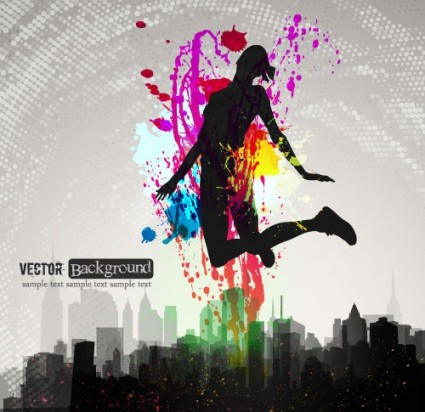 fashion color splash background 05 vector