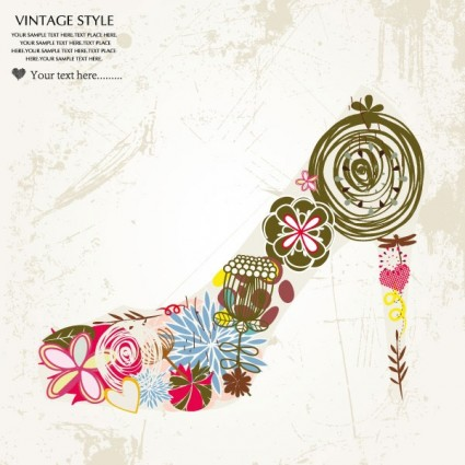 fashion high heels pattern patterns 02 vector