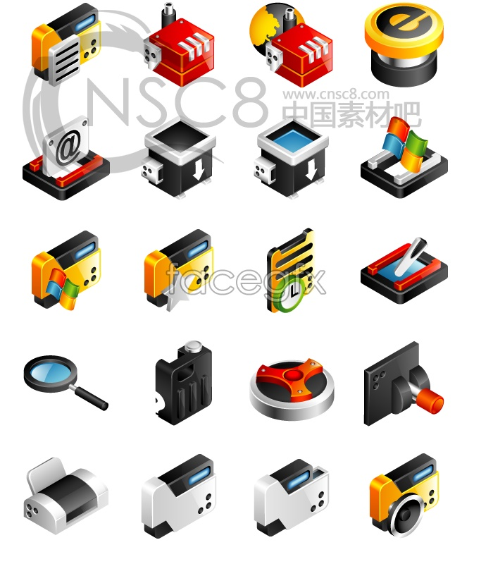 Fashion technology concept icons