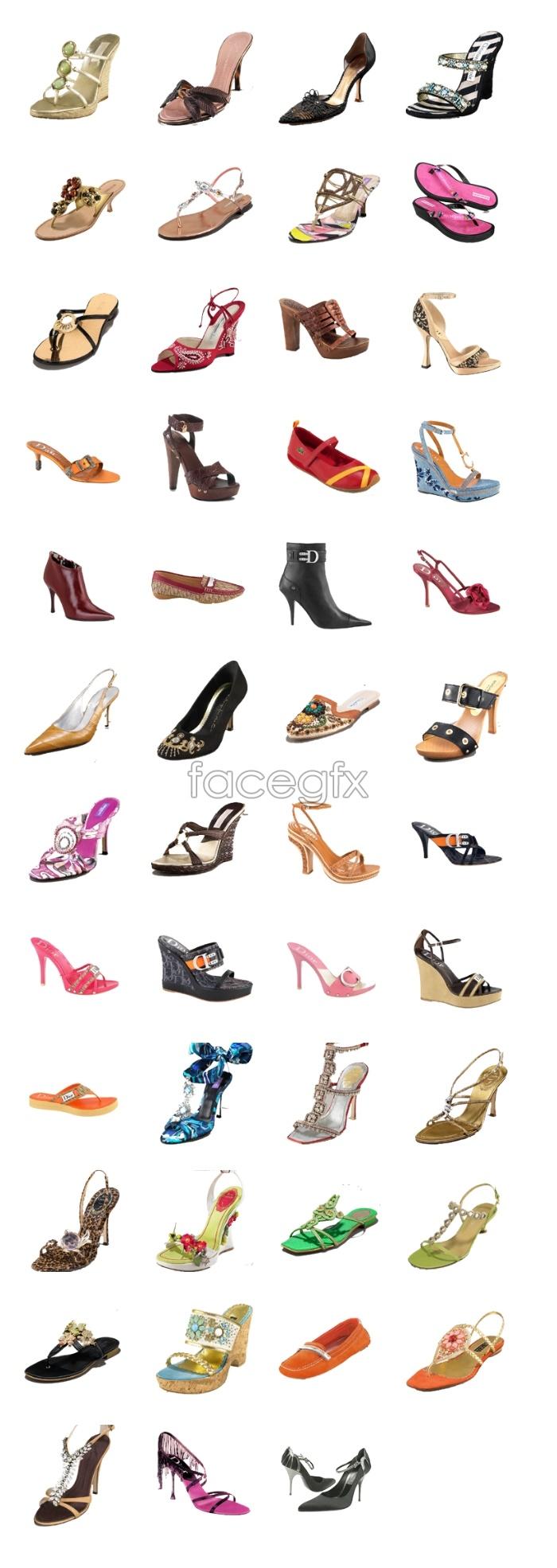Fashion woman shoe icons