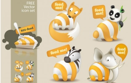 Feed Me Animals: A Free RSS Feed Icon Set