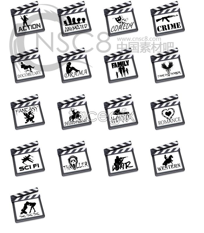 Film series desktop icons