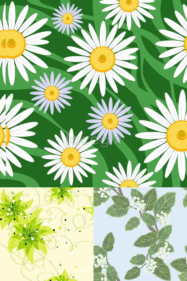 Fine plant pattern Vector