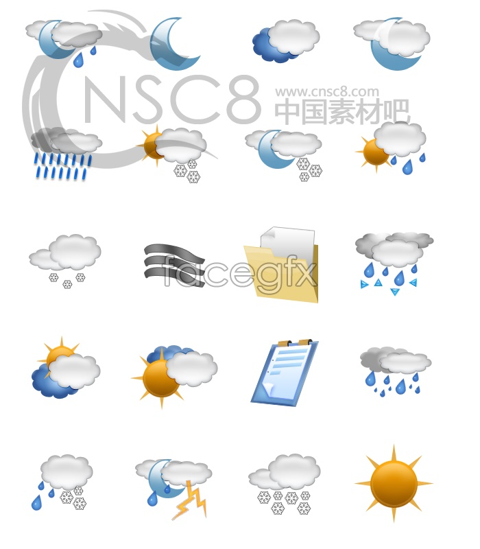 Fine weather icons