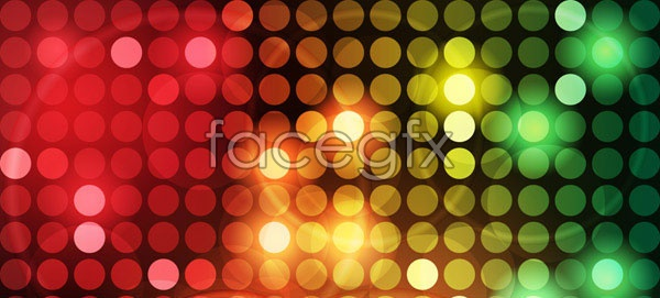 Five magic glowing dots background vector