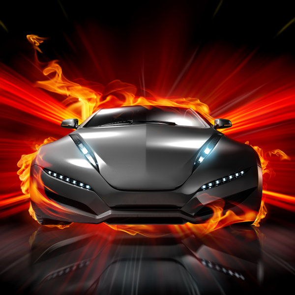 Cool Cars On Fire Collection Wallpapers - Cool cars on fire