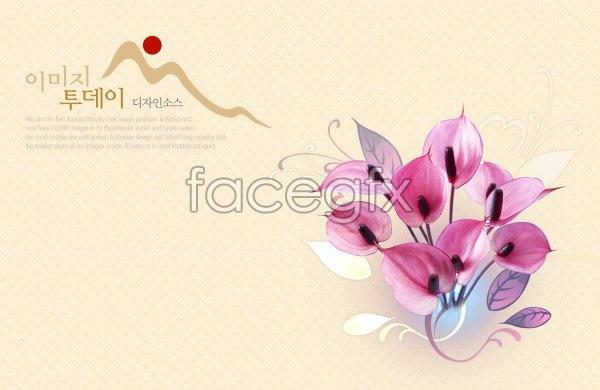 Flower background 3 PSD
