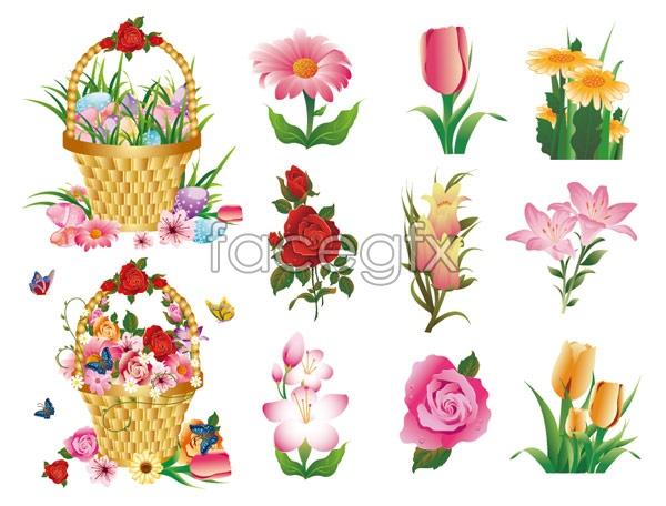 Flower series vector