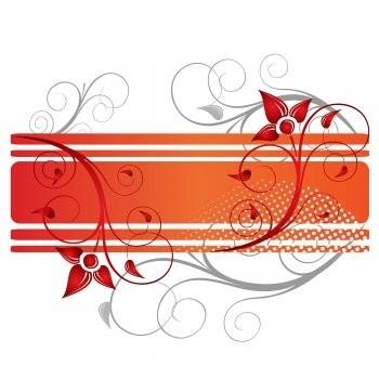 flower vector ai illustrator design, red vector flower